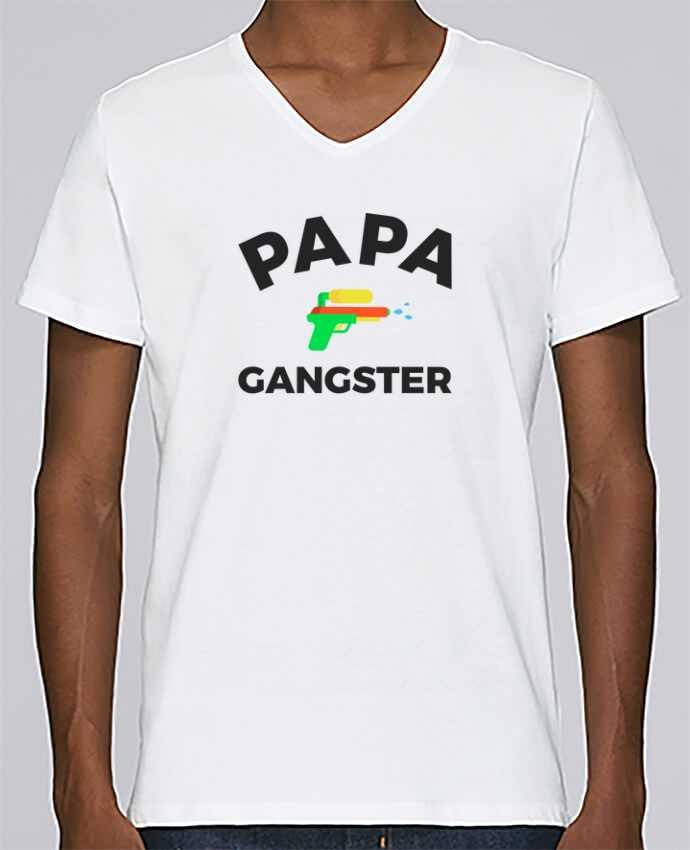 T-shirt Col V Homme Stanley Relaxes Papa Ganster par Ruuud