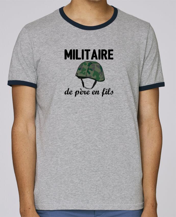 T-Shirt Ringer Contrasté Homme Stanley Holds Militaire de père en fils pour femme par tunetoo