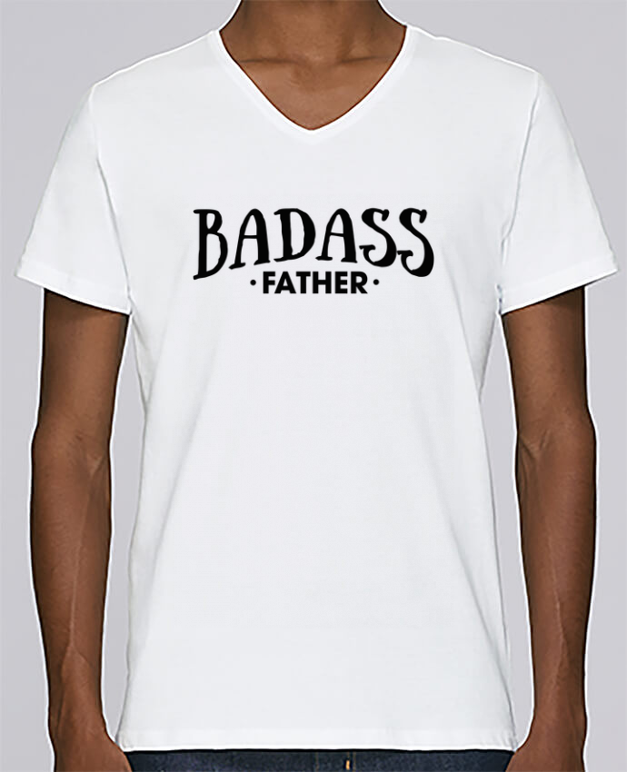 T-shirt Col V Homme Stanley Relaxes Badass Father par tunetoo