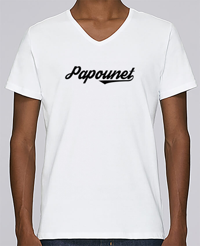T-shirt Col V Homme Stanley Relaxes Papounet par tunetoo
