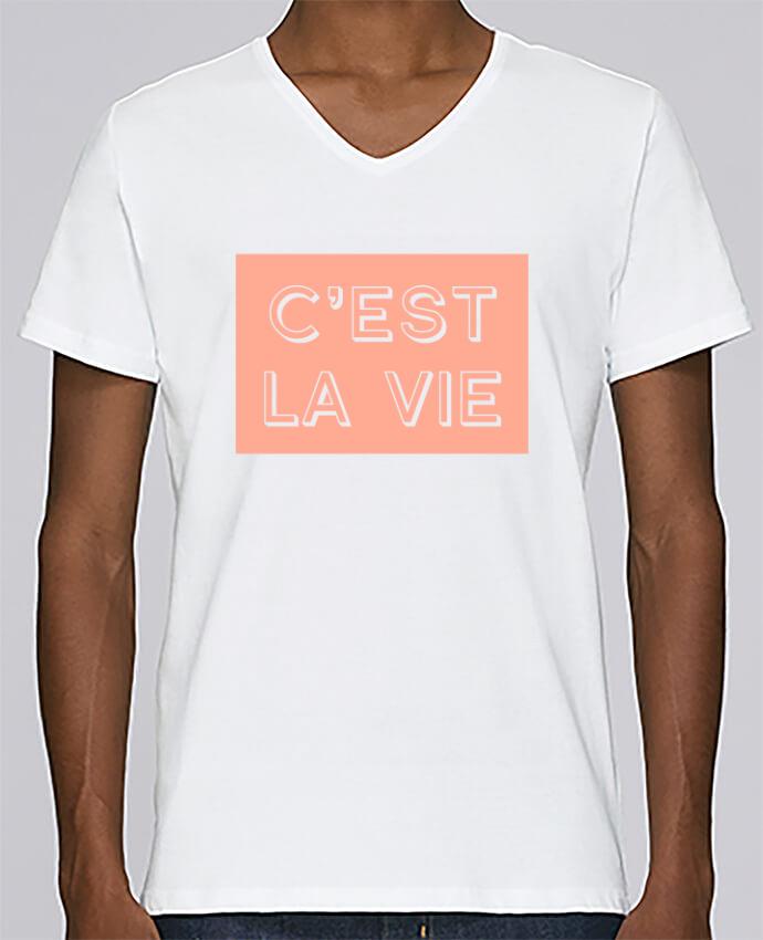T-shirt Col V Homme Stanley Relaxes C'est la vie par tunetoo