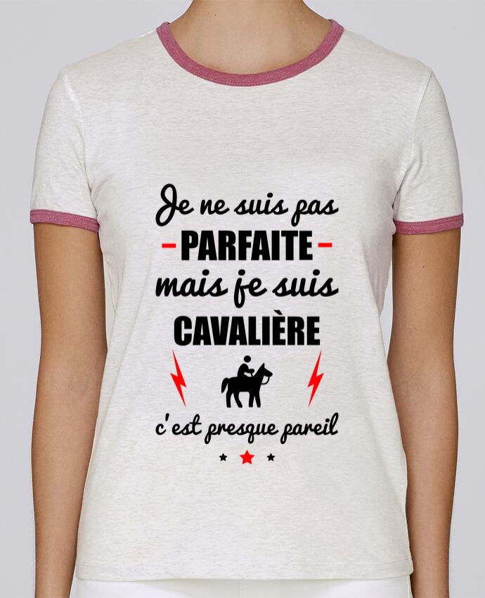 T-shirt Femme Stella Returns Je ne suis pas parfaite mais je suis cavalière c'est presque pareil pour femme par Benichan