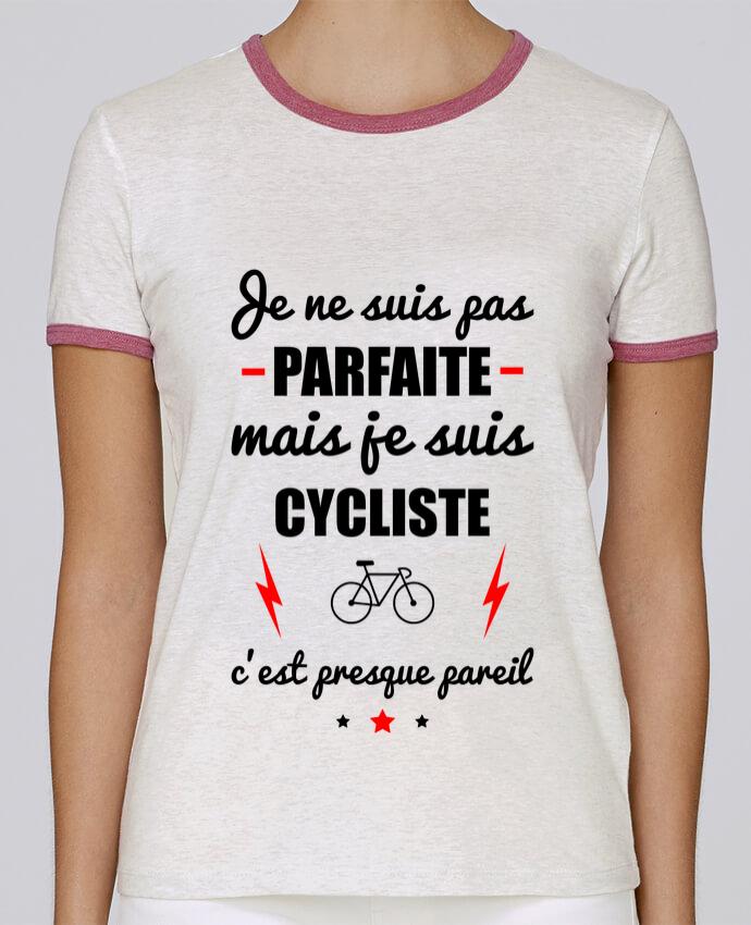T-shirt Femme Stella Returns Je ne suis pas parfaite mais je suis cycliste c'est presque pareil pour femme par Benichan