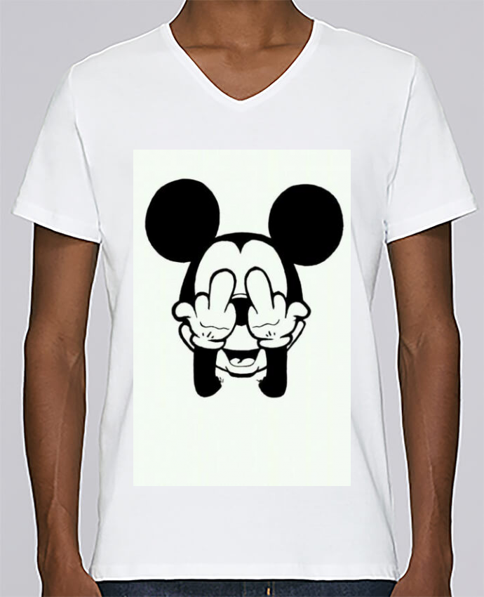 T-shirt Col V Homme Stanley Relaxes Vetement mickey doigt d