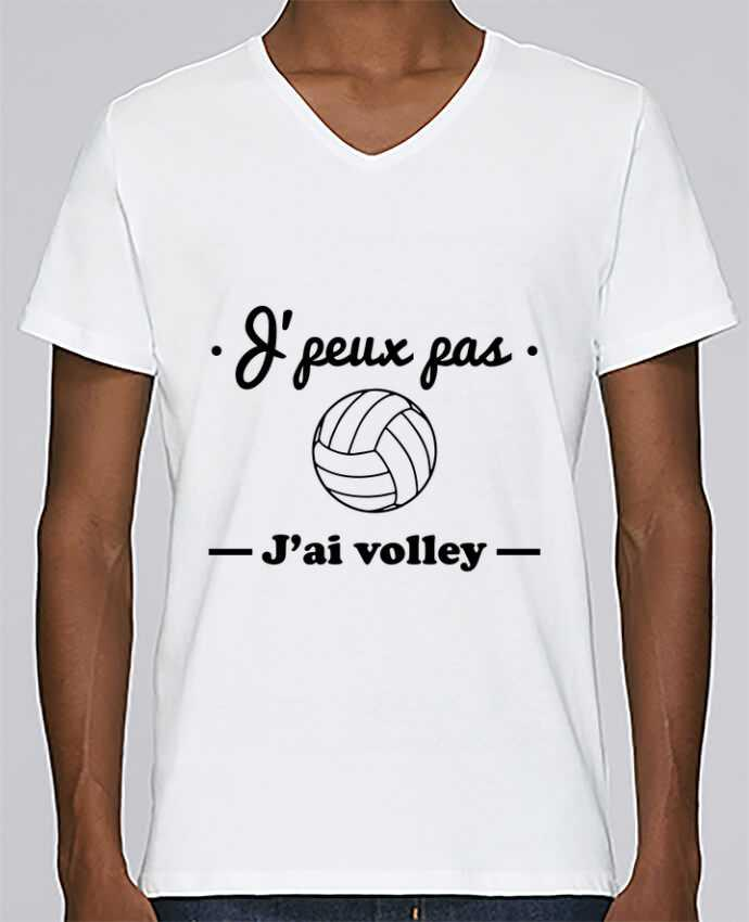 T-shirt Col V Homme Stanley Relaxes J'peux pas j'ai volley , volleyball, volley-ball par Benichan