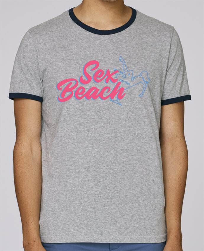 T-Shirt Ringer Contrasté Homme Stanley Holds Sex on the beach cocktail pour femme par tunetoo