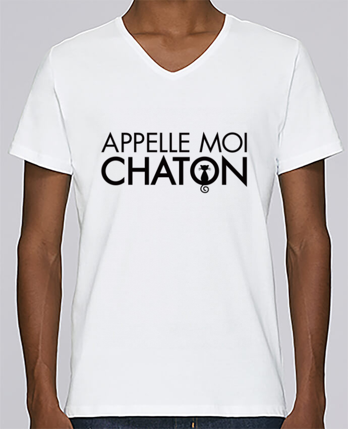 T-shirt Col V Homme Stanley Relaxes Appelle moi Chaton par Freeyourshirt.com