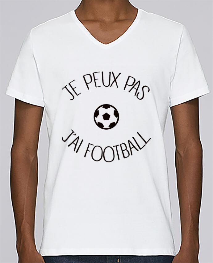 T-shirt Col V Homme Stanley Relaxes Je peux pas j'ai Football par Freeyourshirt.com
