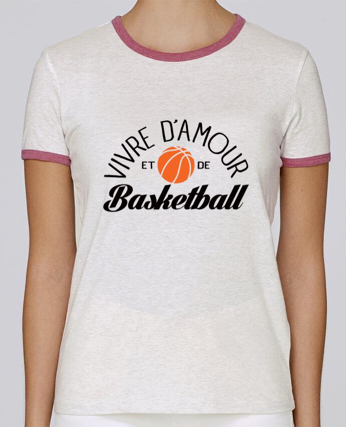 T-shirt Femme Stella Returns Vivre d'Amour et de Basketball pour femme par Freeyourshirt.com