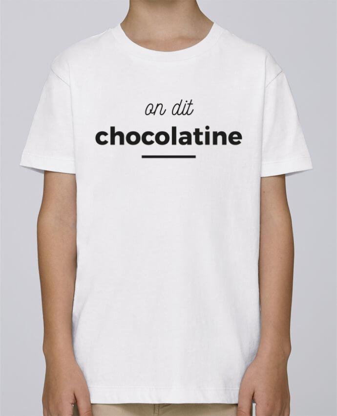 Tee Shirt Garçon Stanley Mini Paint On dit chocolatine par Ruuud
