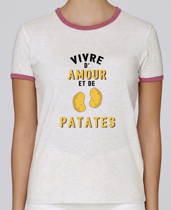 T-shirt Femme Stella Returns Vivre d'amour et de patates pour femme par tunetoo