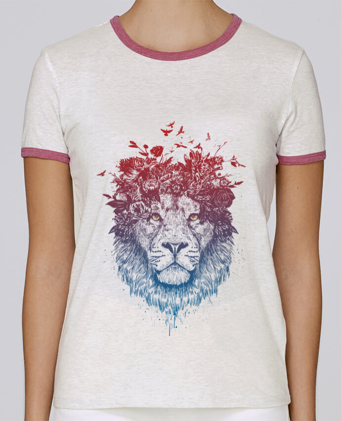 T-shirt Femme Stella Returns Floral lion III pour femme par Balàzs Solti