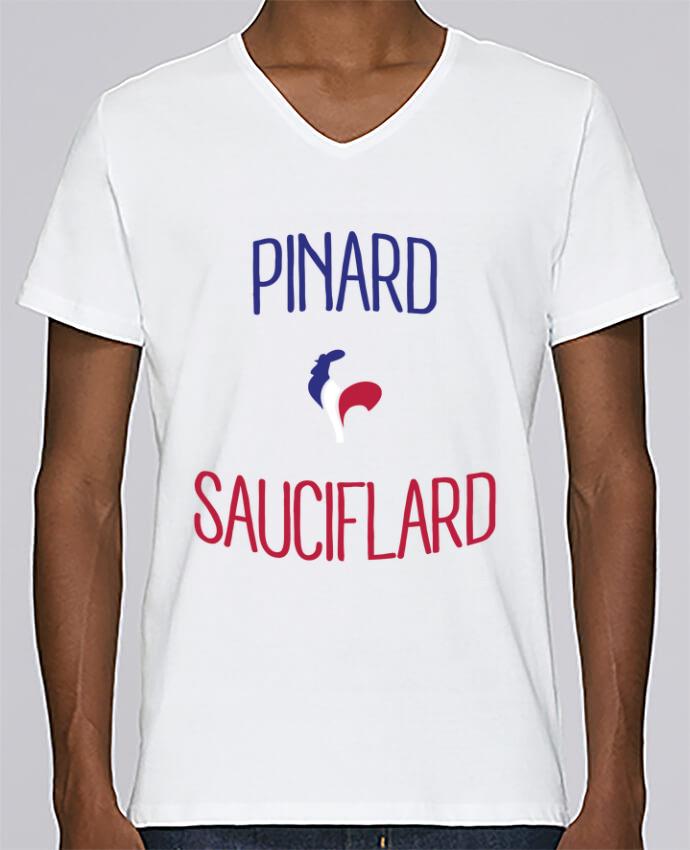 T-shirt Col V Homme Stanley Relaxes Pinard Sauciflard par Freeyourshirt.com
