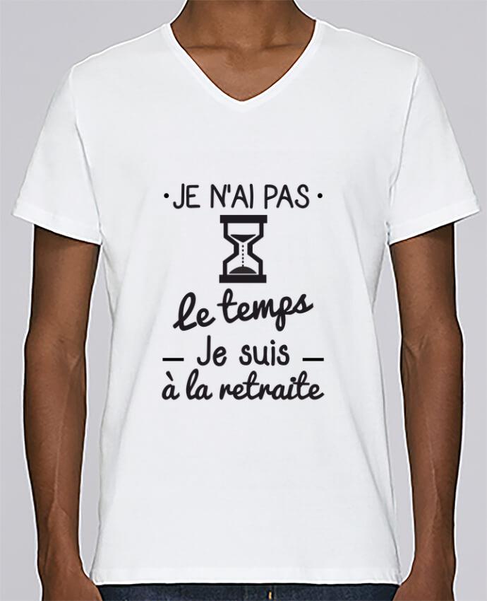 T-shirt Col V Homme Stanley Relaxes Pas le temps, je suis à la retraite, tee shirt retraité par Benichan