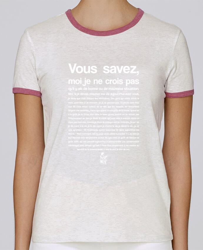 T-shirt Femme Stella Returns Citation Scribe Astérix pour femme par tunetoo