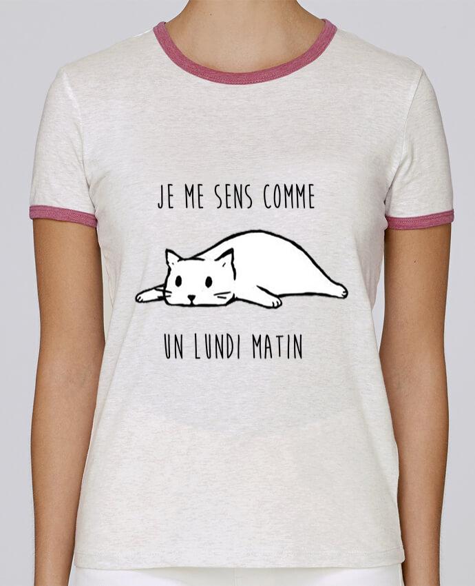 T-shirt Femme Stella Returns chat - je me sens comme un lundi matin pour femme par DesignMe