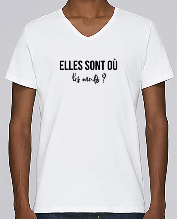 T-shirt Col V Homme Stanley Relaxes Elles sont où les meufs ? par tunetoo