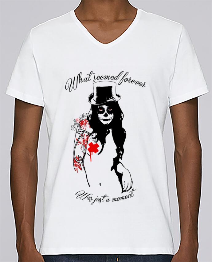 T-shirt Col V Homme Stanley Relaxes femme par Graff4Art