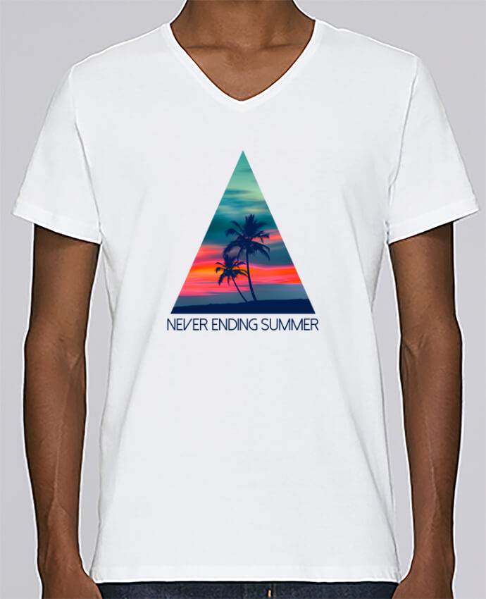 T-shirt Col V Homme Stanley Relaxes Never ending summer par justsayin