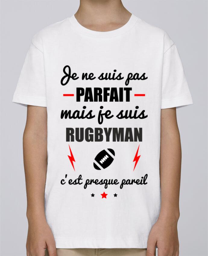 Tee Shirt Garçon Stanley Mini Paint Je ne suis pas parfait mais je suis rugbyman c'est presque pareil par Benichan