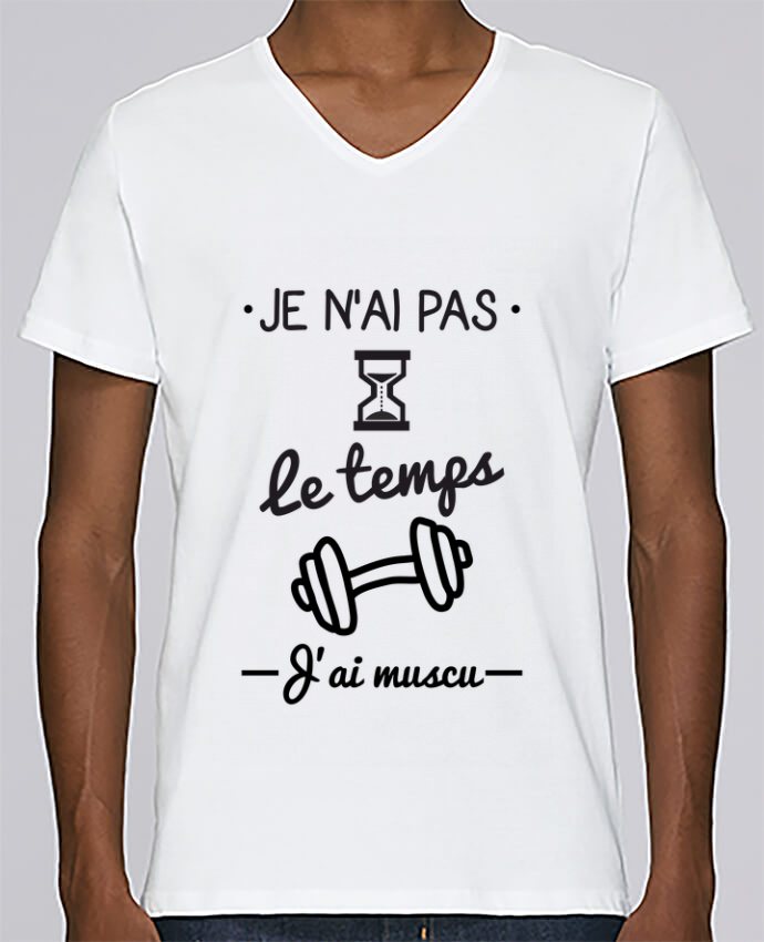 T-shirt Col V Homme Stanley Relaxes Pas le temps, j
