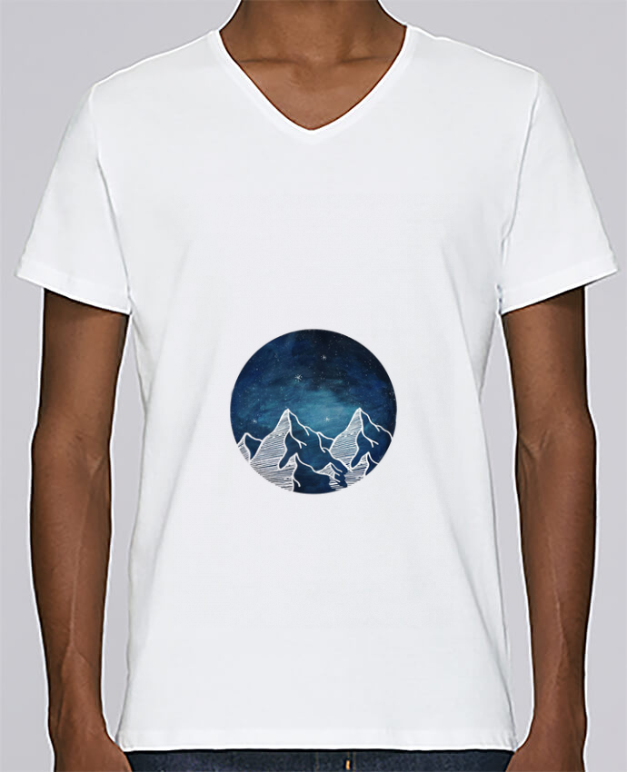 T-shirt Col V Homme Stanley Relaxes Canadian Mountain par Likagraphe