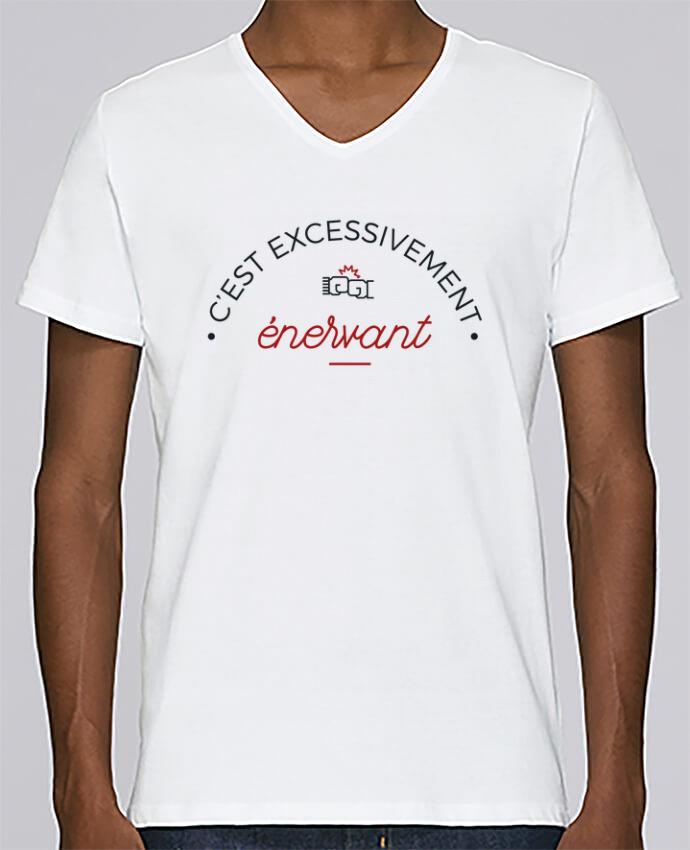 T-shirt Col V Homme Stanley Relaxes C'est excessivement énervant ! par tunetoo