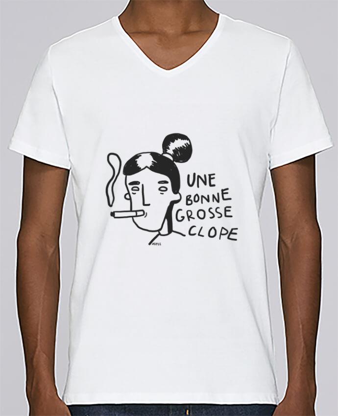 T-shirt Col V Homme Stanley Relaxes CLOPE (une bonne grosse) par RSTLL