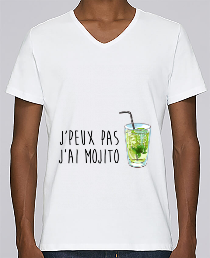 T-shirt Col V Homme Stanley Relaxes Je peux pas j'ai mojito par FRENCHUP-MAYO