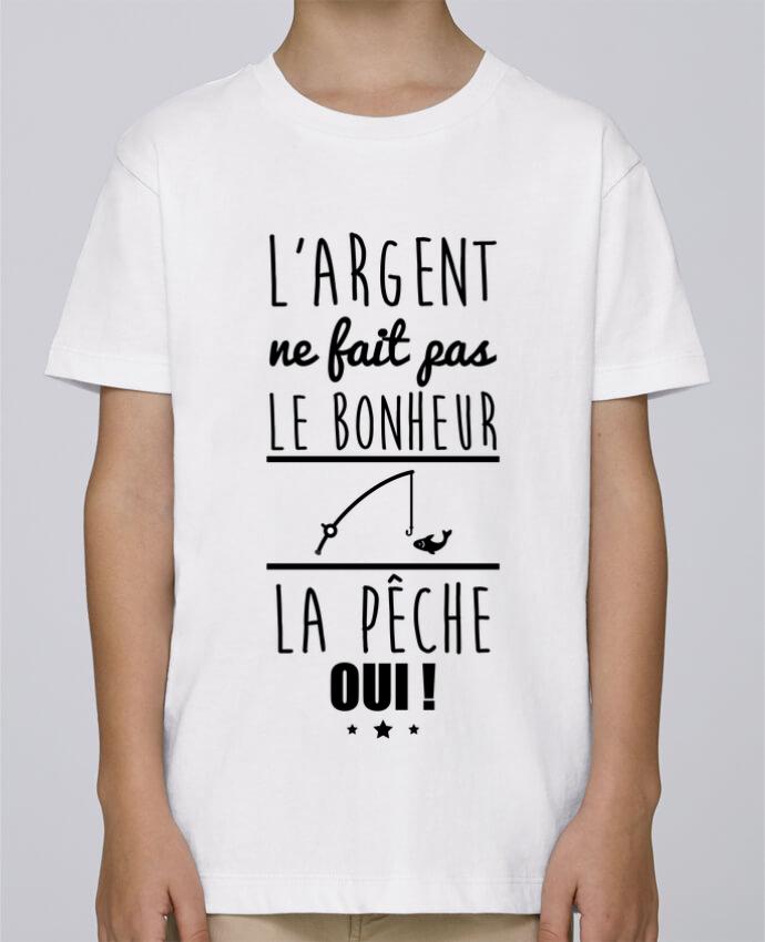 Tee Shirt Garçon Stanley Mini Paint L'argent ne fait pas le bonheur la pêche oui ! par Benichan