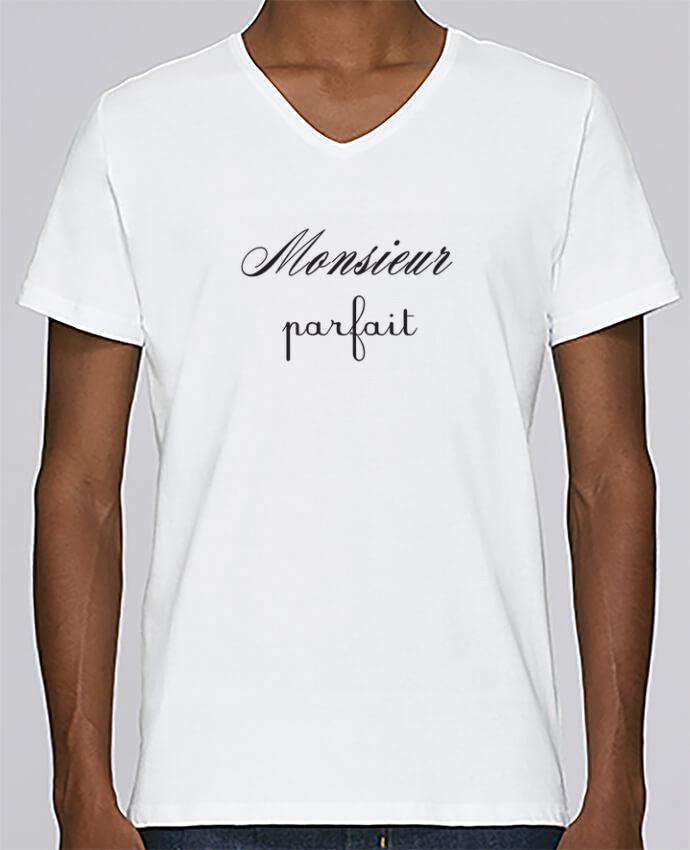 T-shirt Col V Homme Stanley Relaxes Monsieur parfait par Les Caprices de Filles