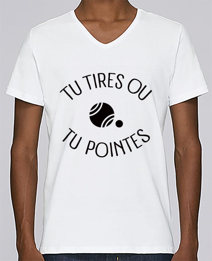 T-shirt Col V Homme Stanley Relaxes Tu Tires Ou Tu Pointes par Freeyourshirt.com