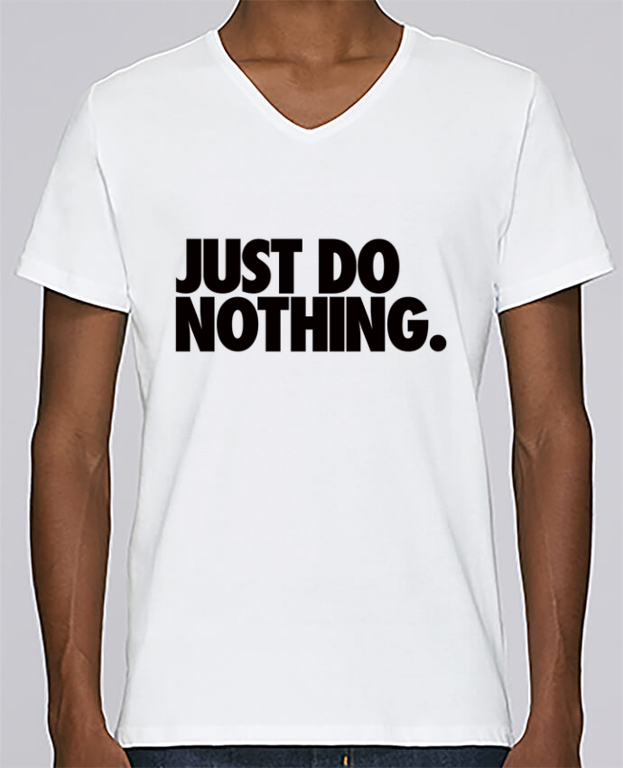 T-shirt Col V Homme Stanley Relaxes Just Do Nothing par Freeyourshirt.com