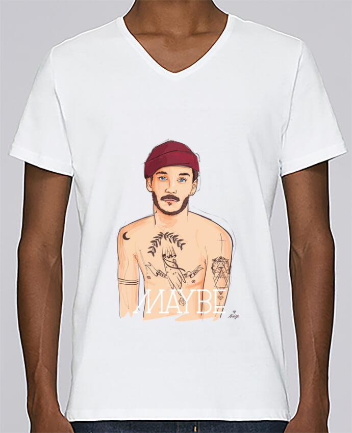 T-shirt Col V Homme Stanley Relaxes Maybe par 13octobre