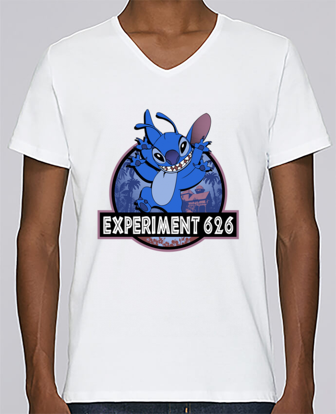 T-shirt Col V Homme Stanley Relaxes Experiment 626 par Kempo24