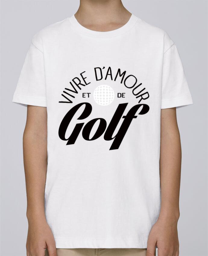 Tee Shirt Garçon Stanley Mini Paint Vivre d'Amour et de Golf par Freeyourshirt.com