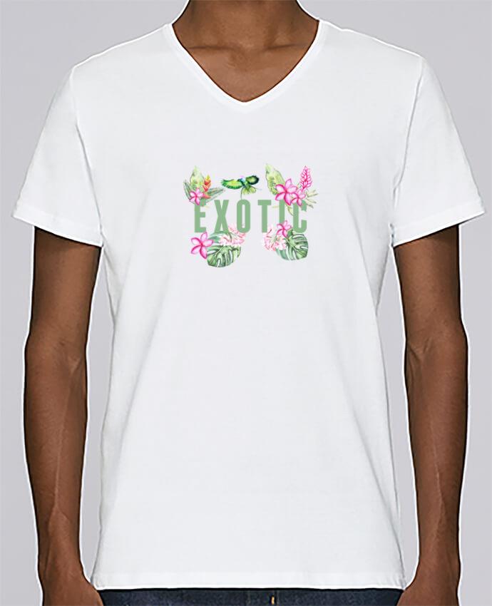 T-shirt Col V Homme Stanley Relaxes Exotic par Les Caprices de Filles