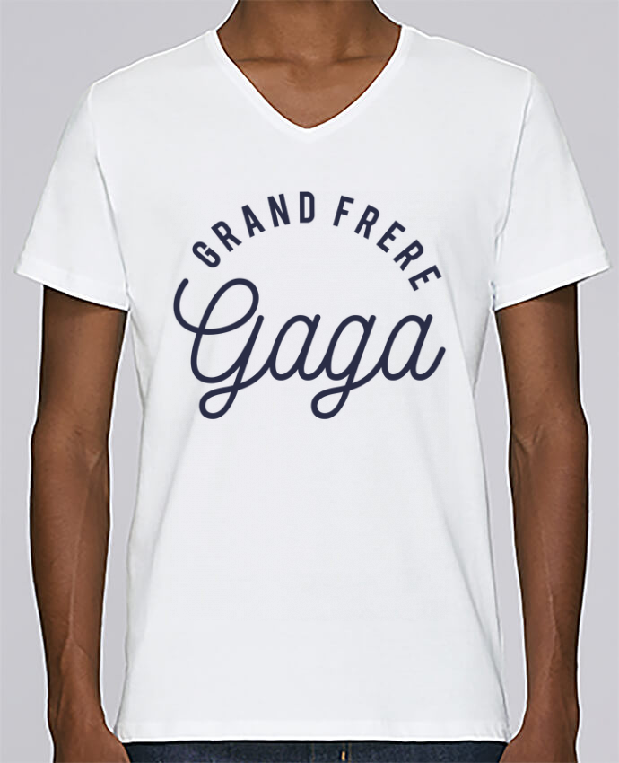 T-shirt Col V Homme Stanley Relaxes Grand frère gaga par tunetoo