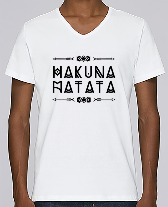 T-shirt Col V Homme Stanley Relaxes hakuna matata par DesignMe