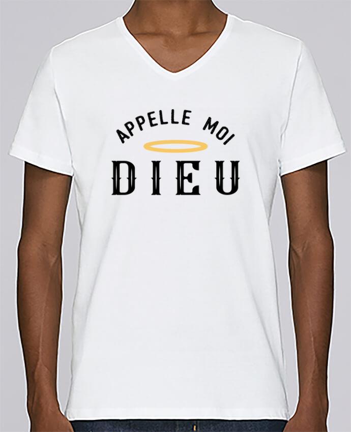 T-shirt Col V Homme Stanley Relaxes Appelle moi dieu par tunetoo