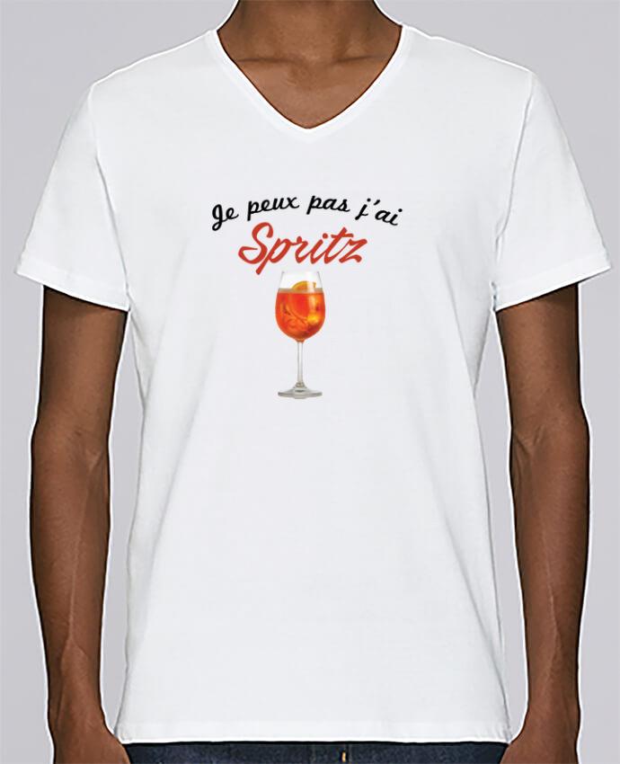 T-shirt Col V Homme Stanley Relaxes Je peux pas j'ai Spritz par tunetoo
