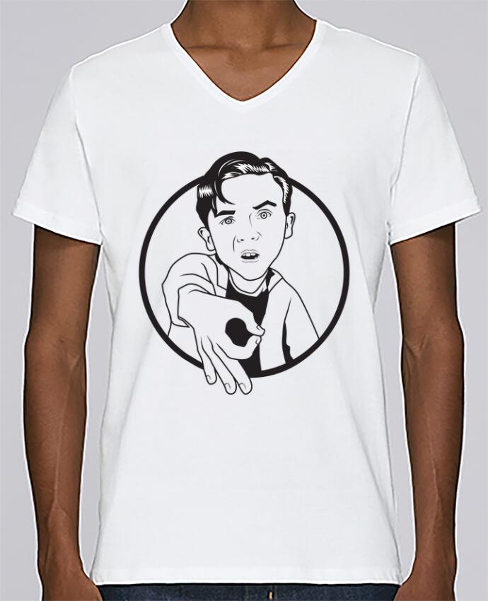 T-shirt Col V Homme Stanley Relaxes Malcolm, jeu de l'oeil par tunetoo