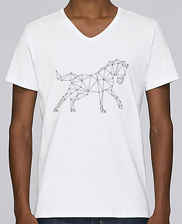 T-shirt Col V Homme Stanley Relaxes horse - géométrique par /wait-design