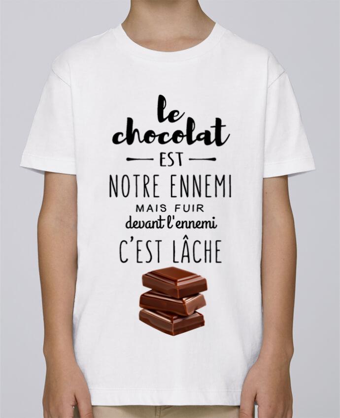 Tee Shirt Garçon Stanley Mini Paint chocolat par DesignMe