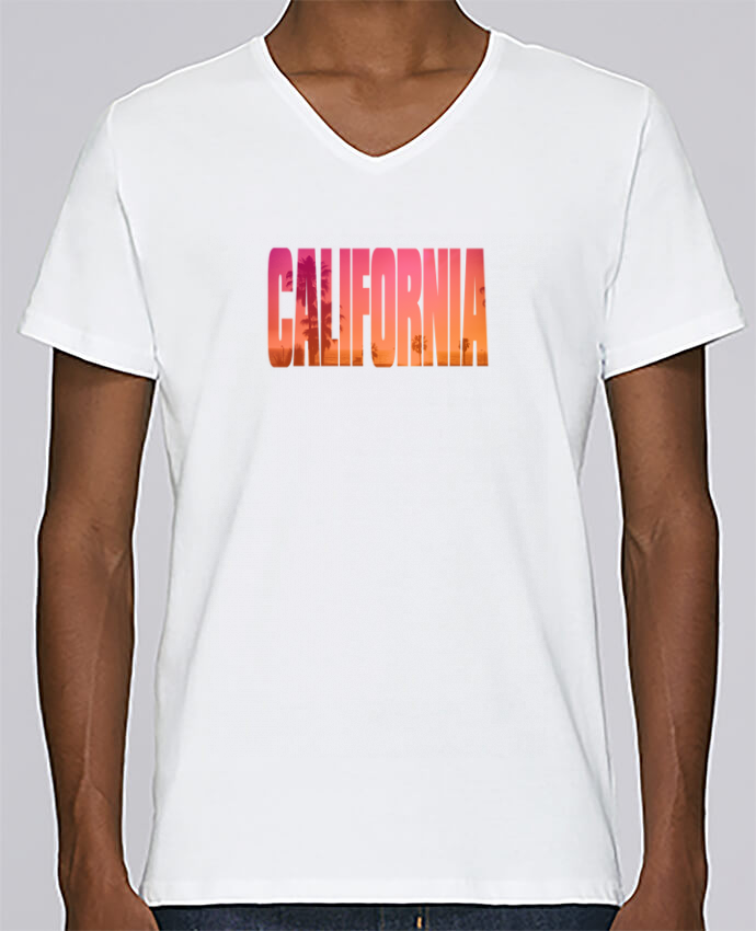 T-shirt Col V Homme Stanley Relaxes California par justsayin