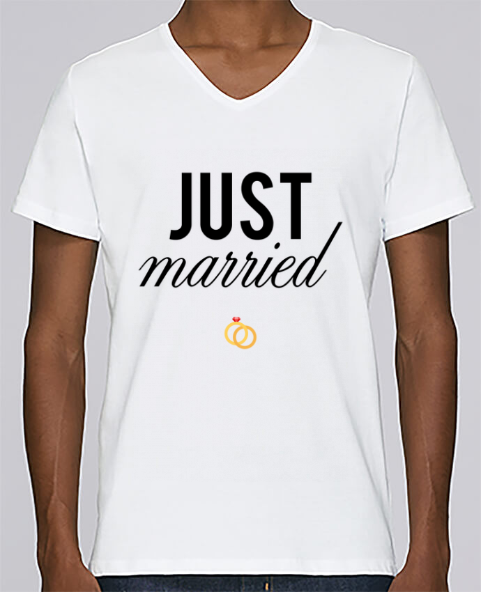 T-shirt Col V Homme Stanley Relaxes Just married par tunetoo