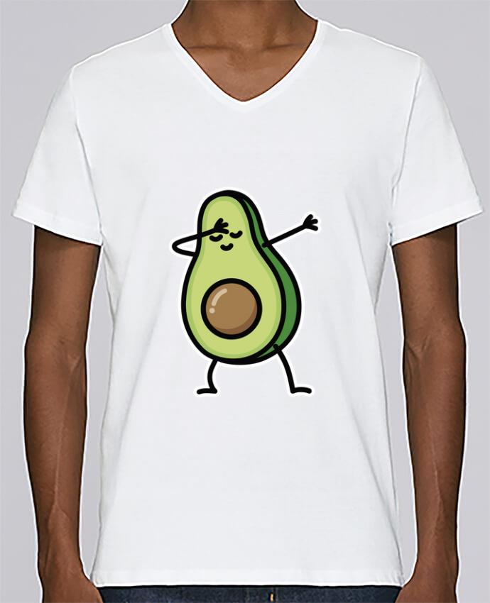 T-shirt Col V Homme Stanley Relaxes Avocado dab par LaundryFactory