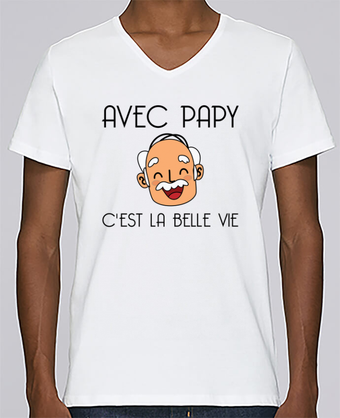T-shirt Col V Homme Stanley Relaxes Avec papy c