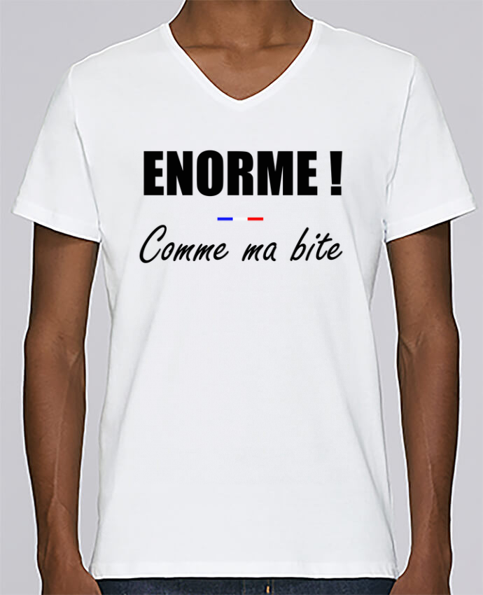 T-shirt Col V Homme Stanley Relaxes Énorme comme ma bite par tunetoo