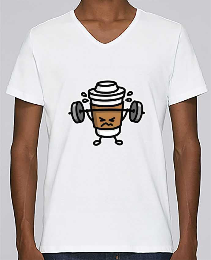 T-shirt Col V Homme Stanley Relaxes STRONG COFFEE SMALL par LaundryFactory